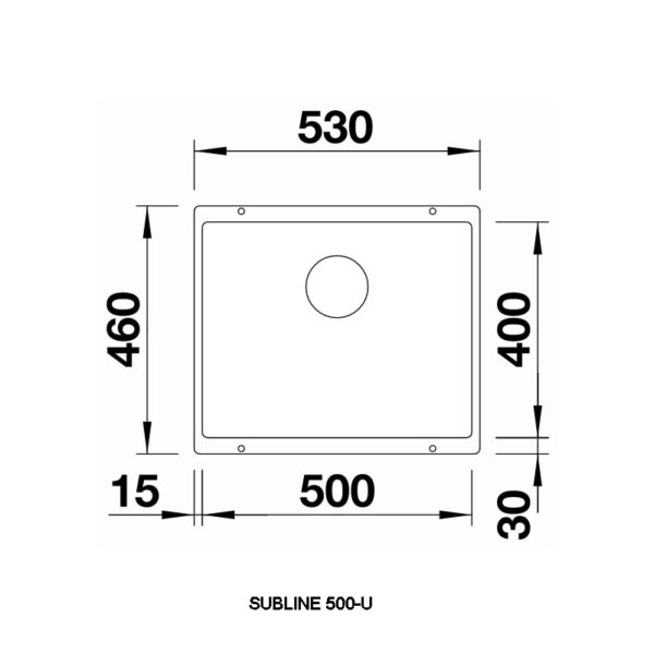 Blanco subline500u dim